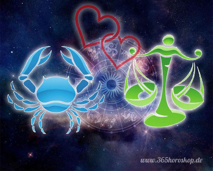 Krebs Waage Partnerhoroskop - Liebe