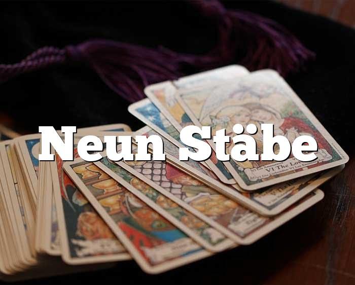 Neun Stäbe
