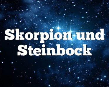 Skorpion und Steinbock