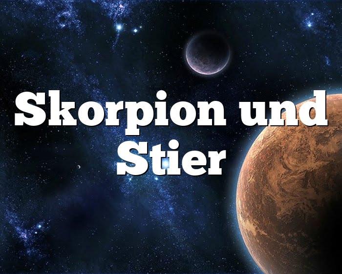 Passt stier das skorpion und Stier und