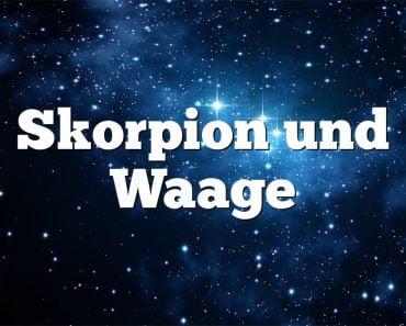 Skorpion und Waage