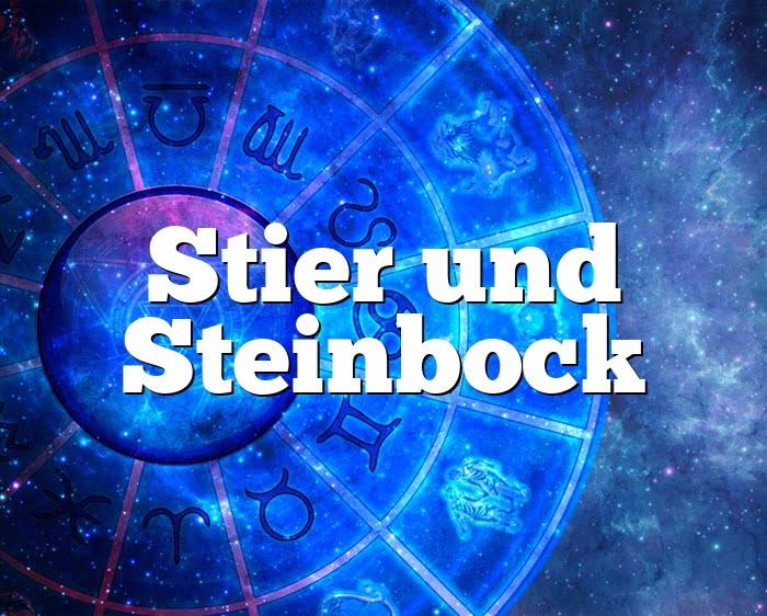 Stier Steinbock Partnerhoroskop - Liebe