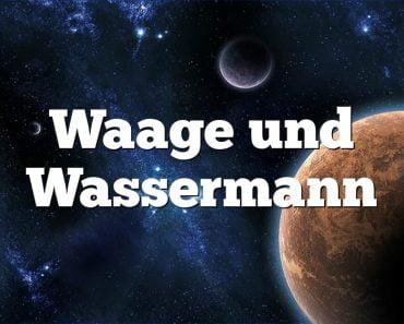 Waage und Wassermann