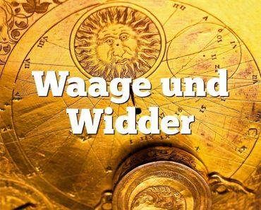 Waage und Widder