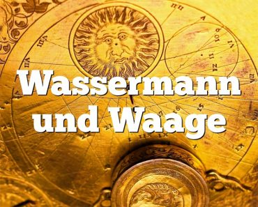 Wassermann und Waage