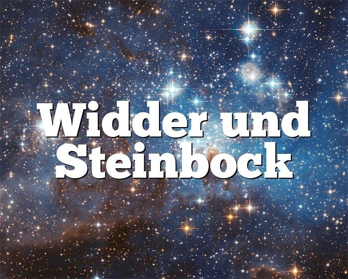 Widderfrau Und Steinbockmann