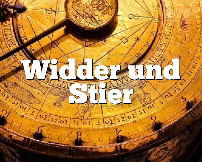 Widder Stier Partnerhoroskop - Liebe