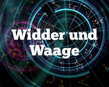 Widder und Waage