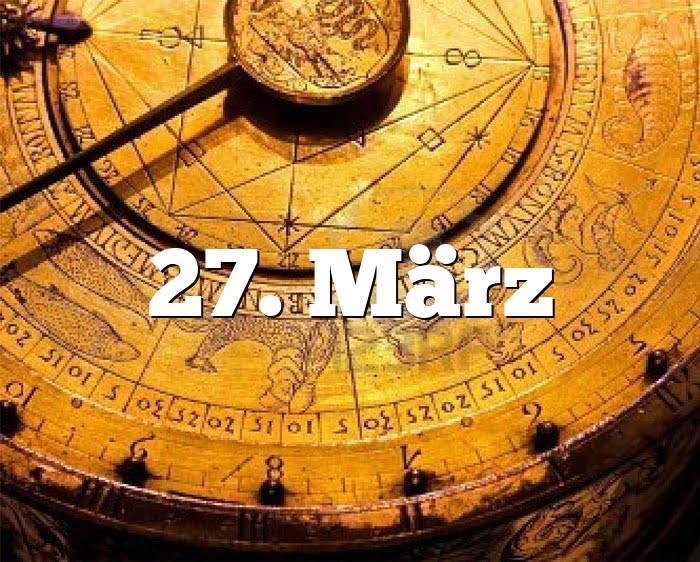 27. März