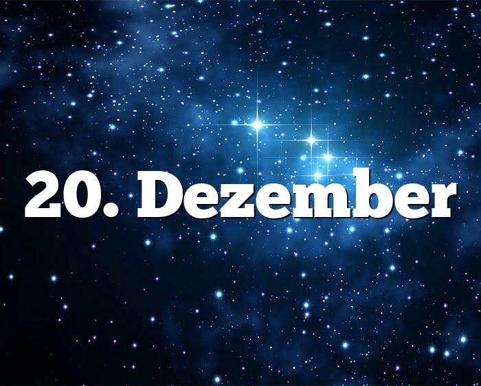 Sternzeichen 20. Dezember