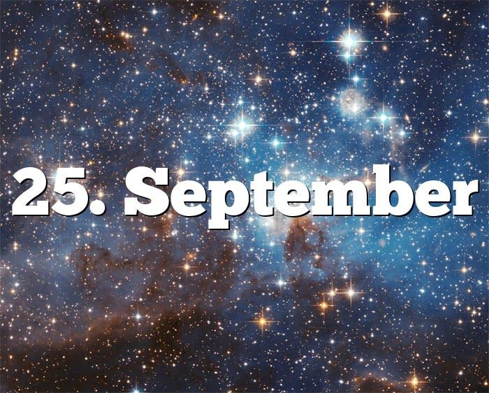 25. September