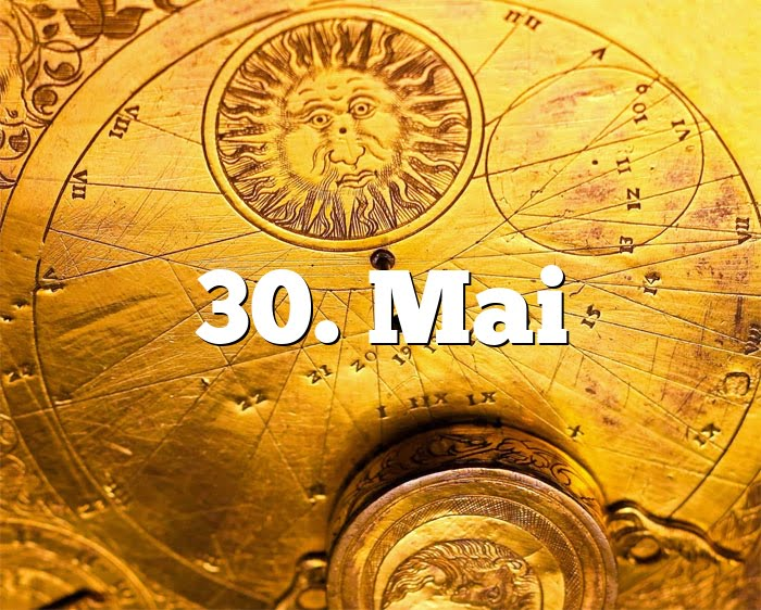 30. Mai